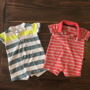 6 Month Baby Boy Short Sleeve Shorts Rompers